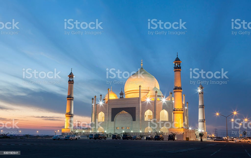 Mosque in Kuwait stock photo
