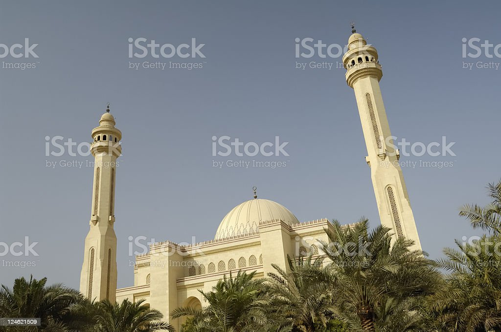 mosque in manama stock photo