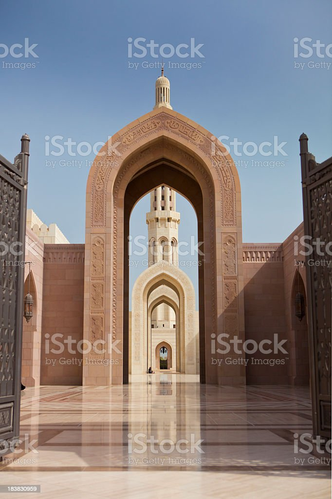 Mosque in Muscat royalty-free stock photo