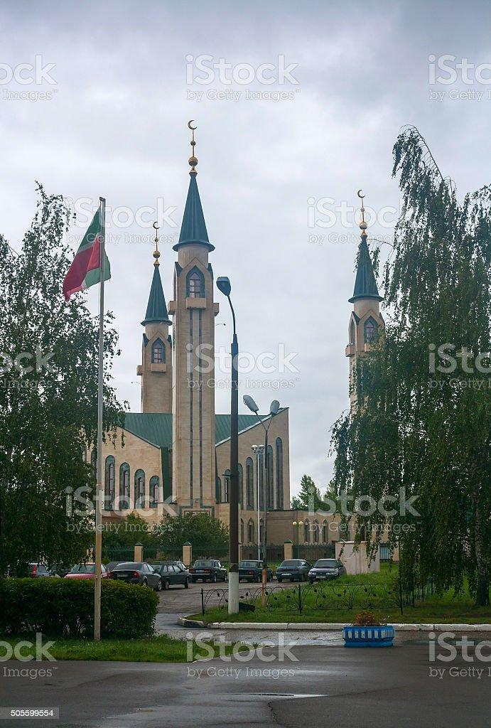 Mosque in Nizhnekamsk town (Tatarstan, Russia) stock photo