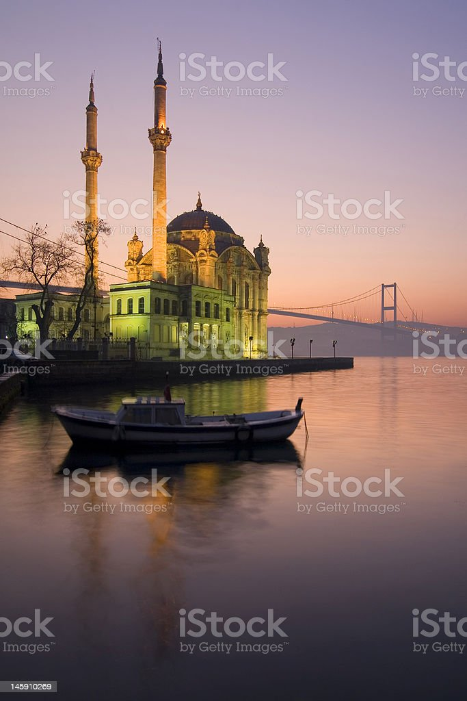 Mosque in Ortakoy royalty-free stock photo