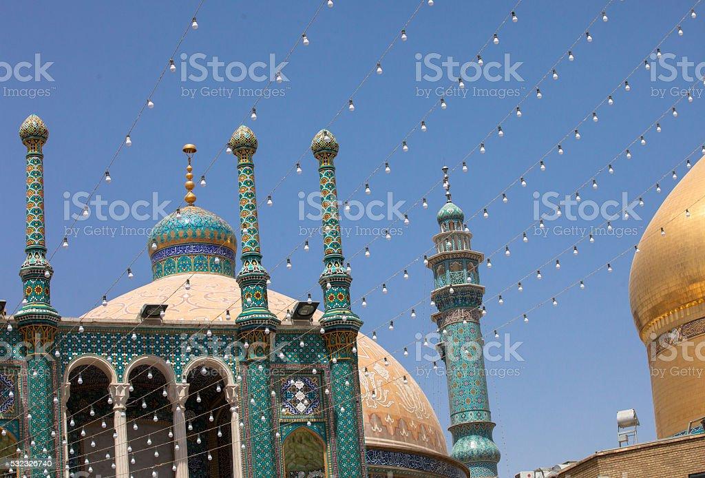 Mosque in Qom, Iran stock photo