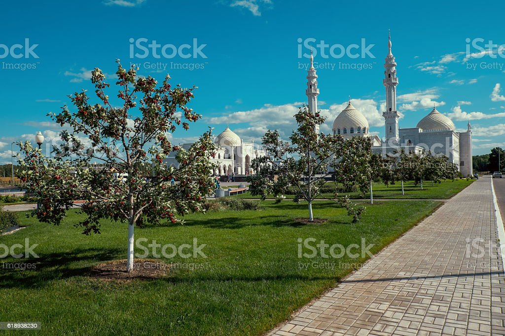 Mosque in Russian town Bolgar. stock photo