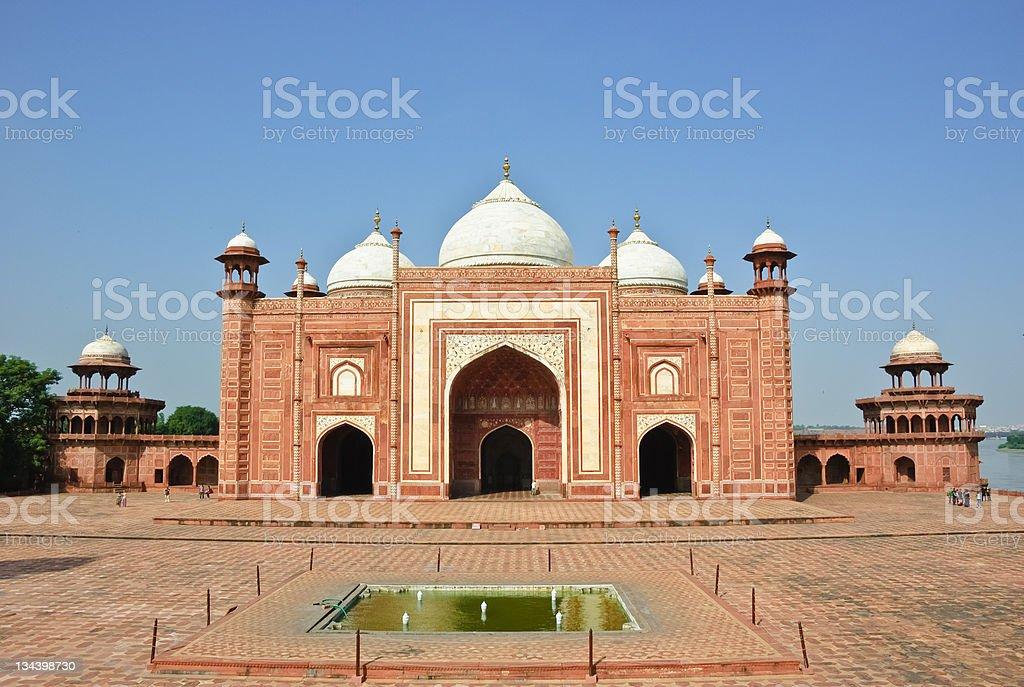 Mosque in Taj Mahal, India royalty-free stock photo