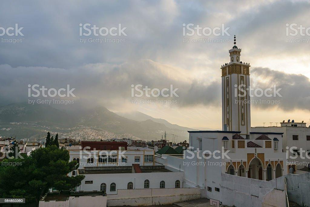Mosque in Tetouan, Morocco stock photo