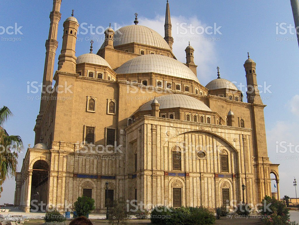 Mezquita de El cairo, Egipto foto de stock libre de derechos