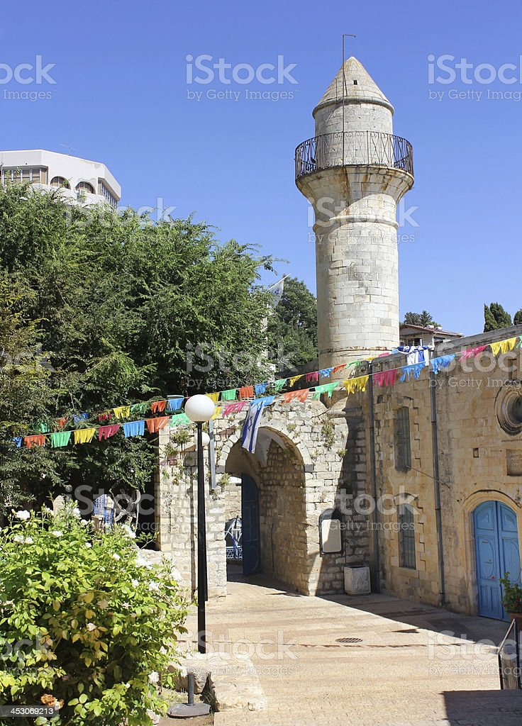 Mosque in the Jewish city stock photo