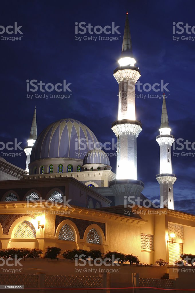 Mosque In The Night royalty-free stock photo