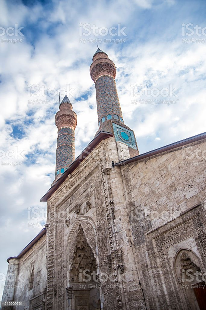 Mosque in the Sivas Cifte Minare. stock photo