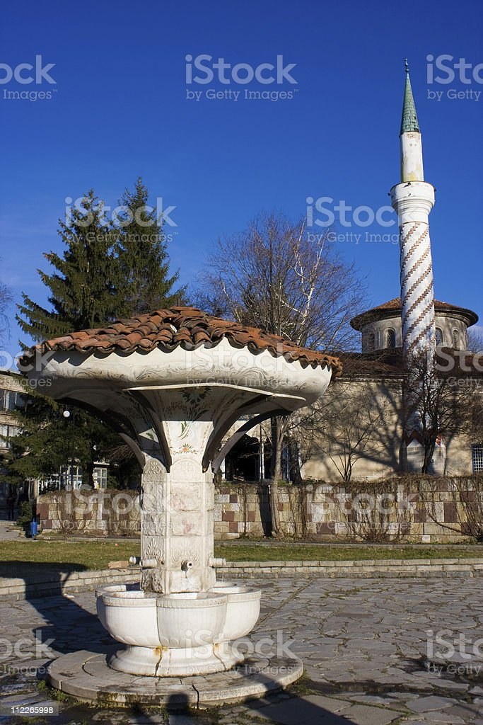 Mosque in the town royalty-free stock photo
