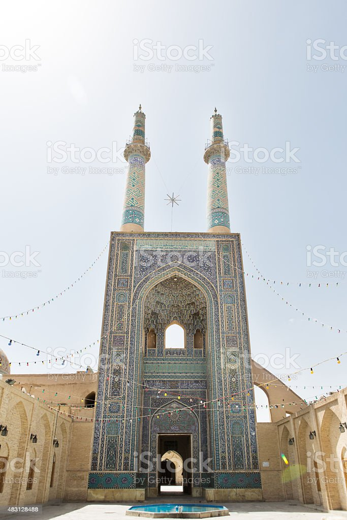 Mosque in Yazd, Iran stock photo