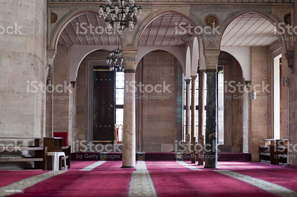 Mosque interior, Istanbul, Turkey royalty-free stock photo