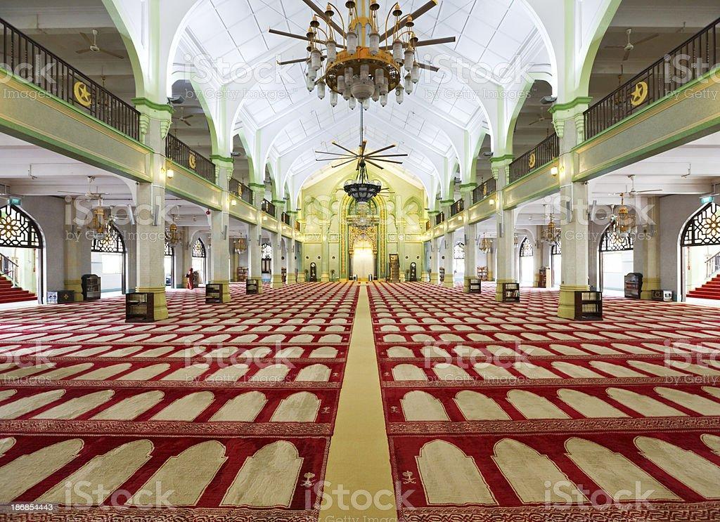 Mosque interior royalty-free stock photo