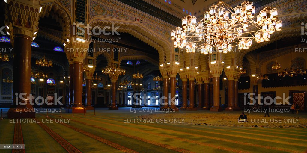 Mosque interior stock photo