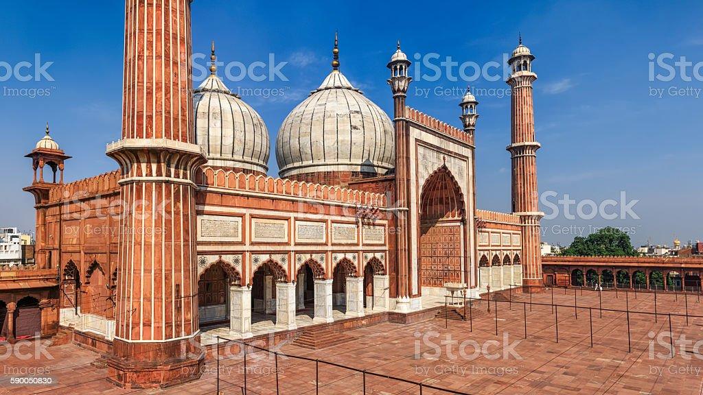 Mosque Jama Masjid, Delhi, India stock photo