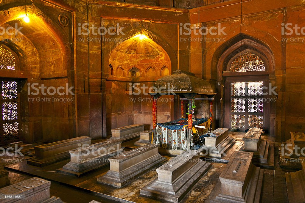 Mosque Jama Masjid in Fatehpur Sikri, Agra, India royalty-free stock photo