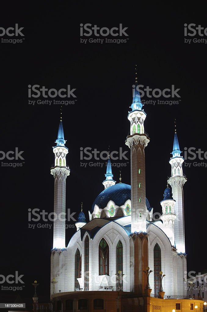 Mosque Koul-Sharif nighte royalty-free stock photo