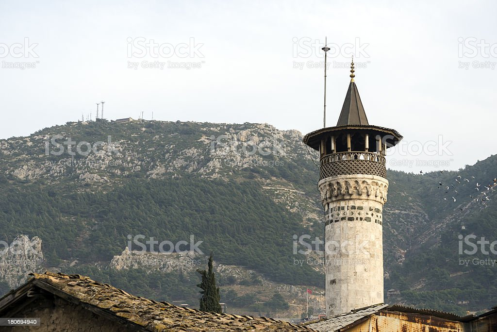 Mosque minaret in Antakya, Turkey stock photo