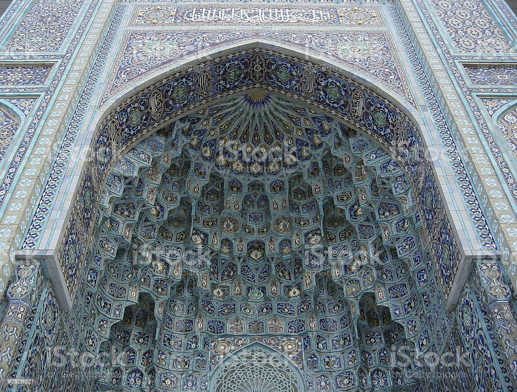 mosque mosaic royalty-free stock photo