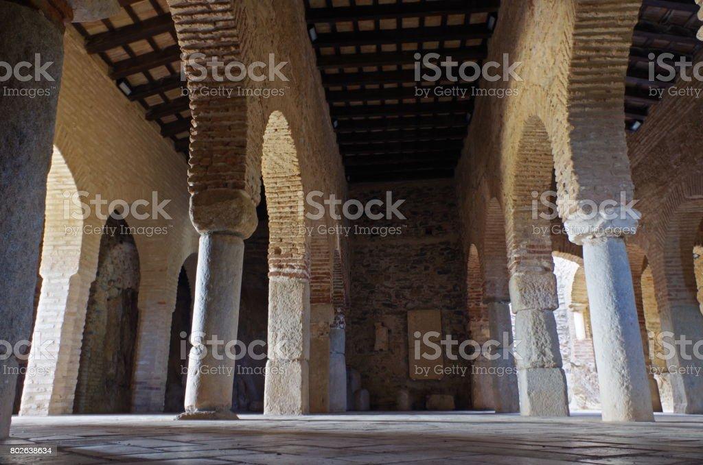 Mosque of Almonaster in Huelva, Spain stock photo