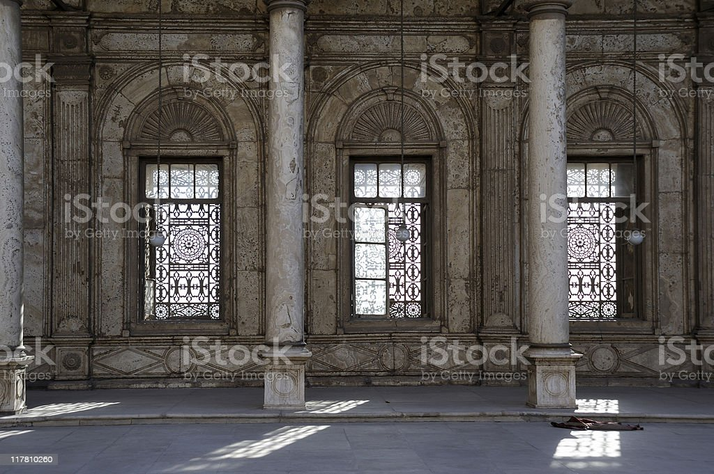 Mosque of Muhammad Ali at the Citadel (cairo - Egypt) royalty-free stock photo