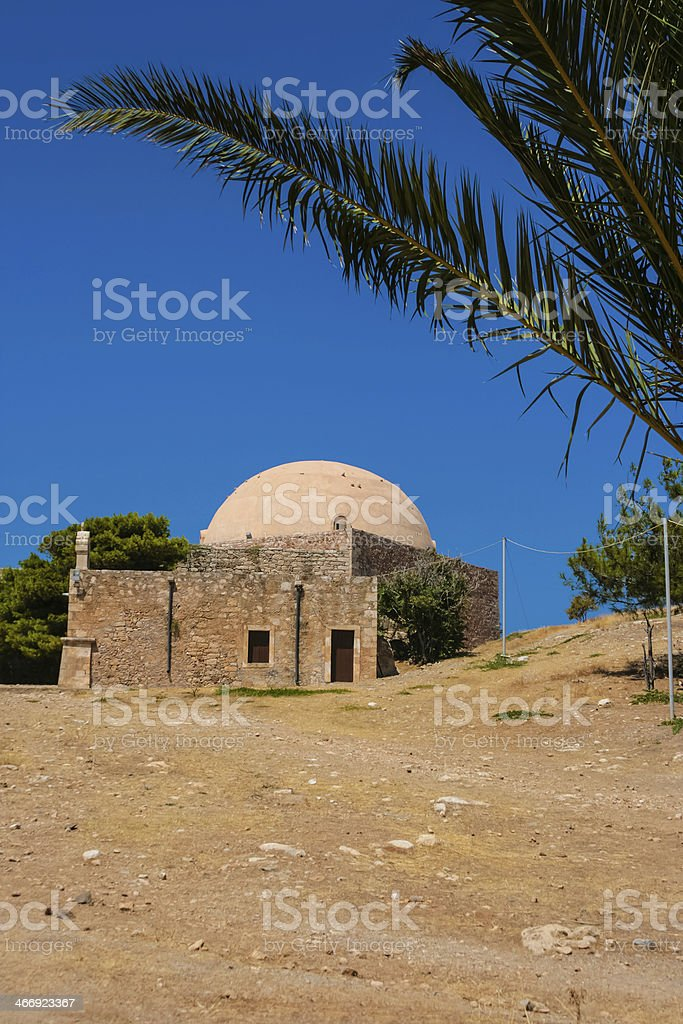 Mosque of Sultan Ibrahim Han in Rethymno at Crete stock photo