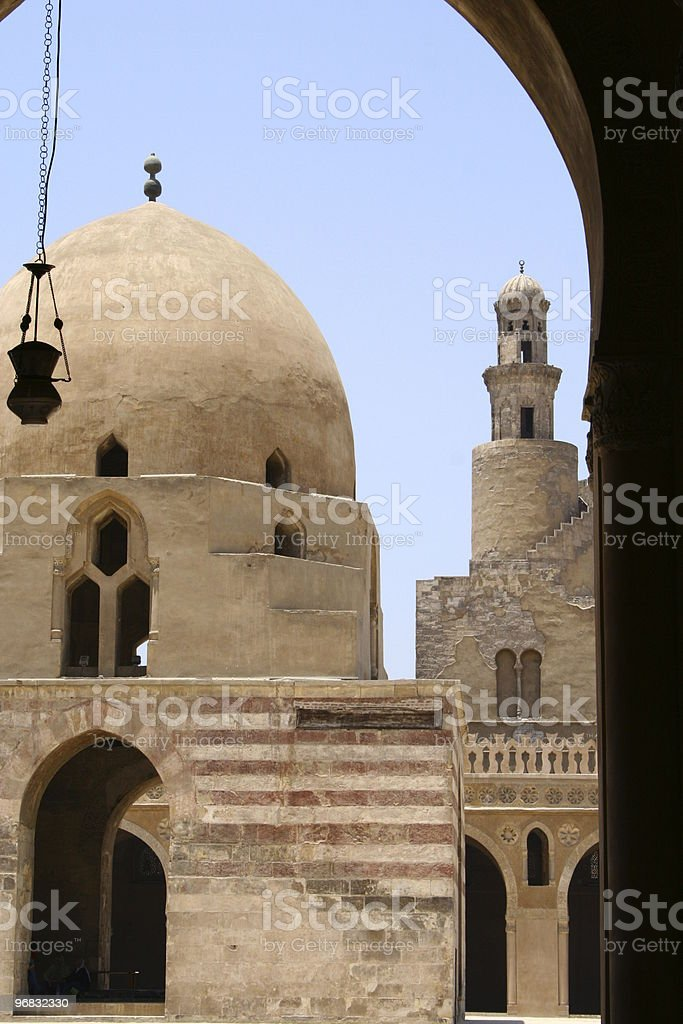 Mosque of Tulun Dome, interior view cairo , egypt royalty-free stock photo