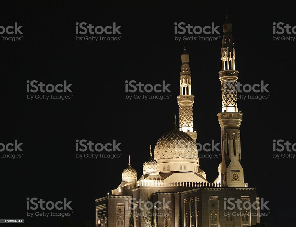 mosque on black stock photo