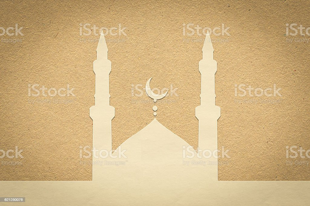 mosque paper , paper design for web ,Stickers, Tags stock photo
