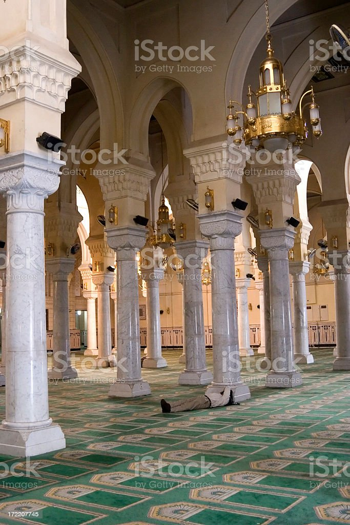 Mosque prayer hall royalty-free stock photo