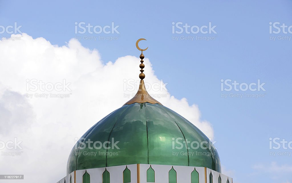 Mosque Roof and Crescent royalty-free stock photo