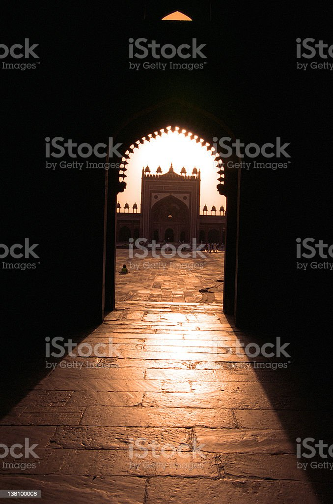 Mosque Sunset royalty-free stock photo