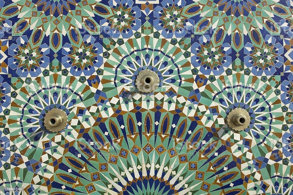 Mosque tiles stock photo