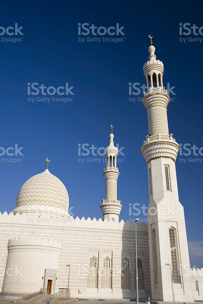 Mosque United Arab Emirates stock photo