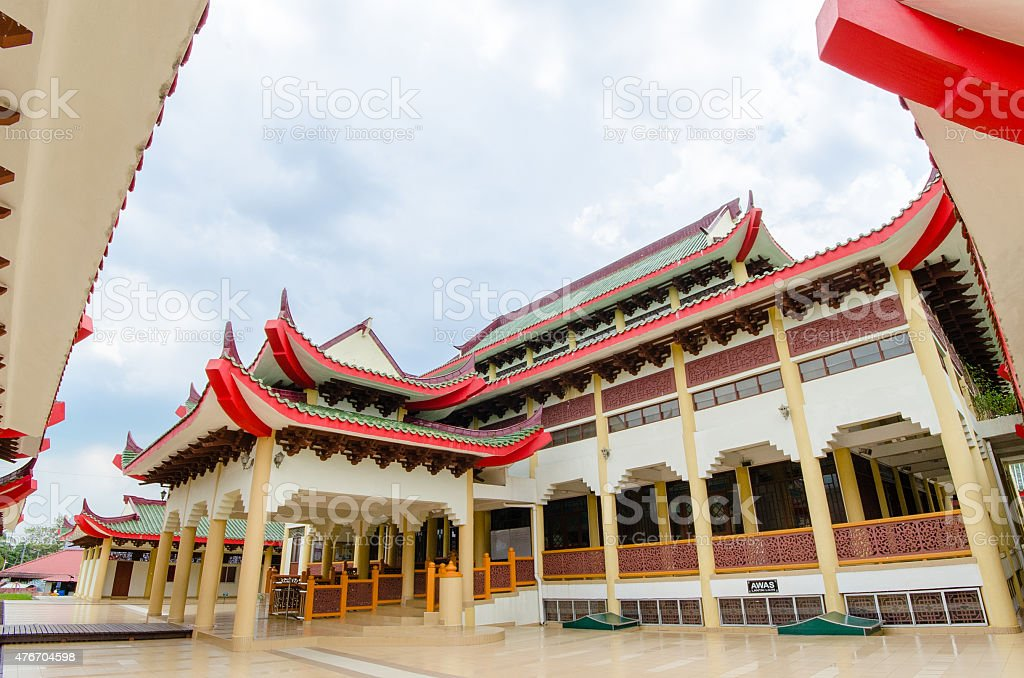 Mosque with chinese architecture stock photo