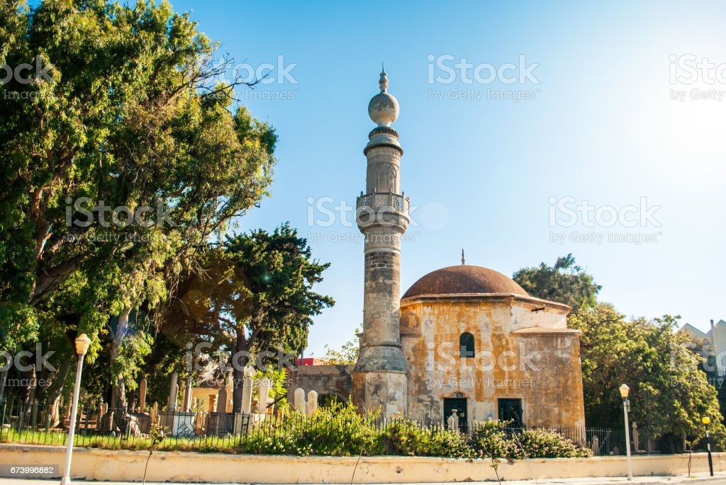 Mosque with sunny skies stock photo