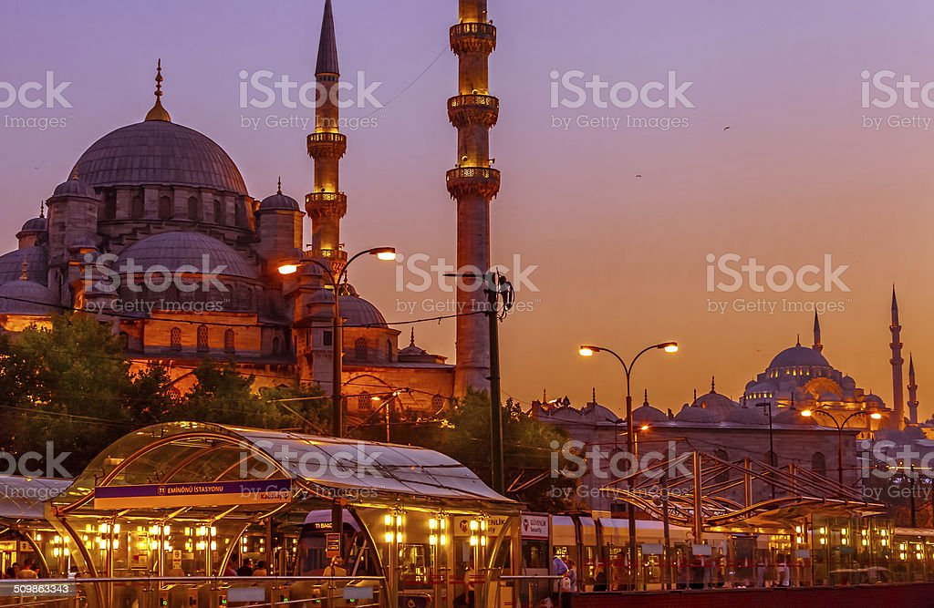 Mosques in Istanbul stock photo