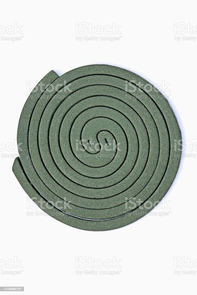 Mosquito coil, close-up royalty-free stock photo