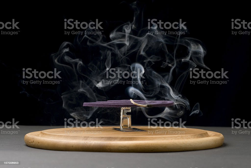 Mosquito coil stock photo