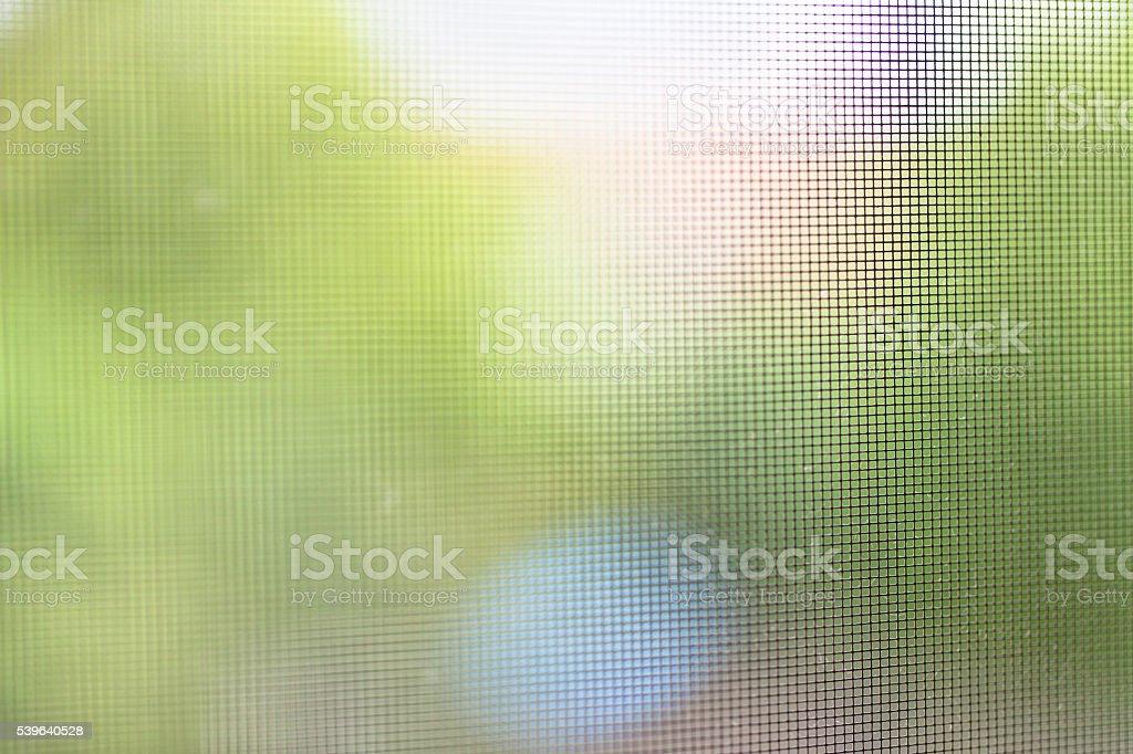 Mosquito Net, Defocused Background stock photo