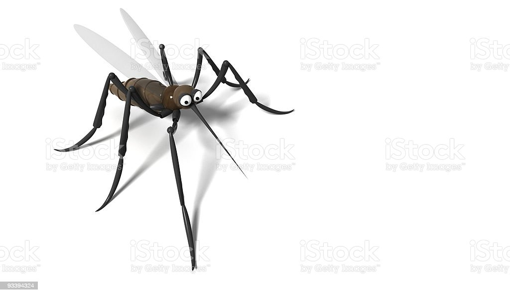 3D mosquito royalty-free stock photo