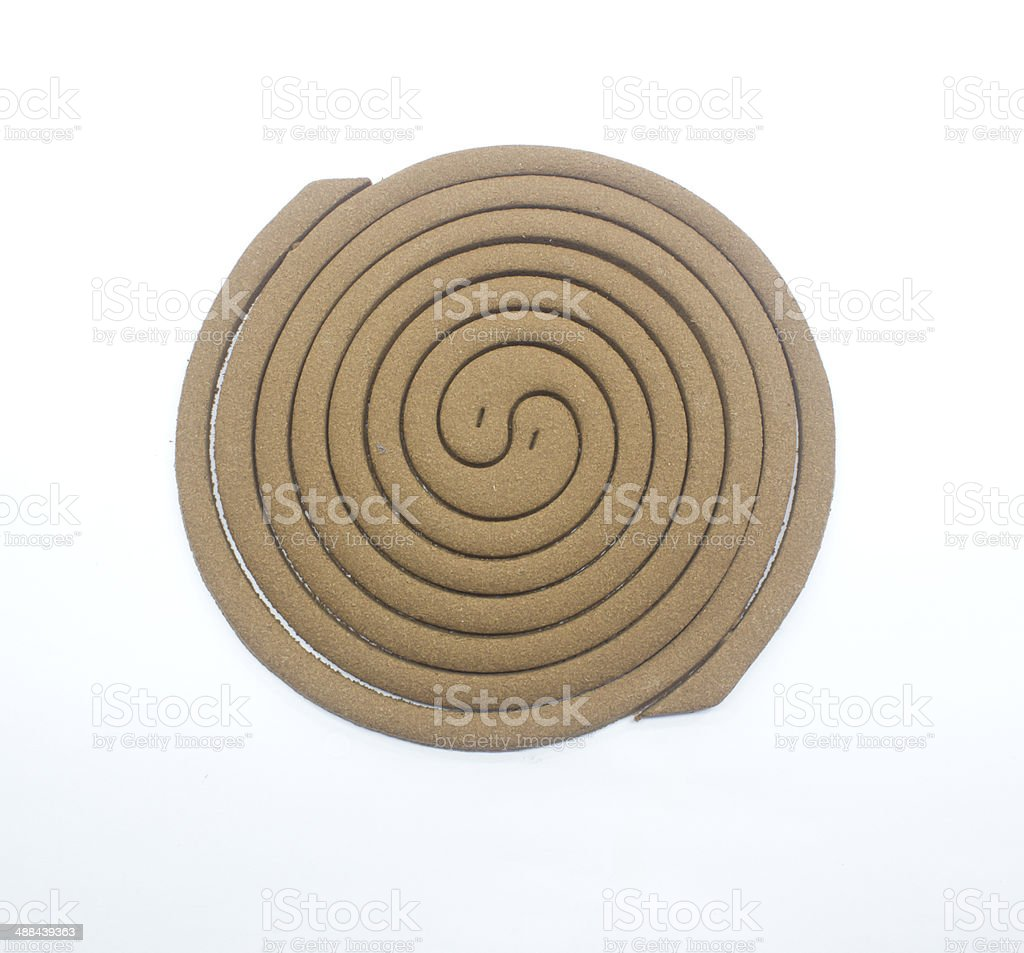mosquito repellent incense coil isolated on white background royalty-free stock photo