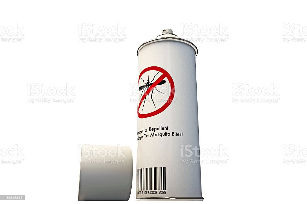 mosquito repellent spary can stock photo