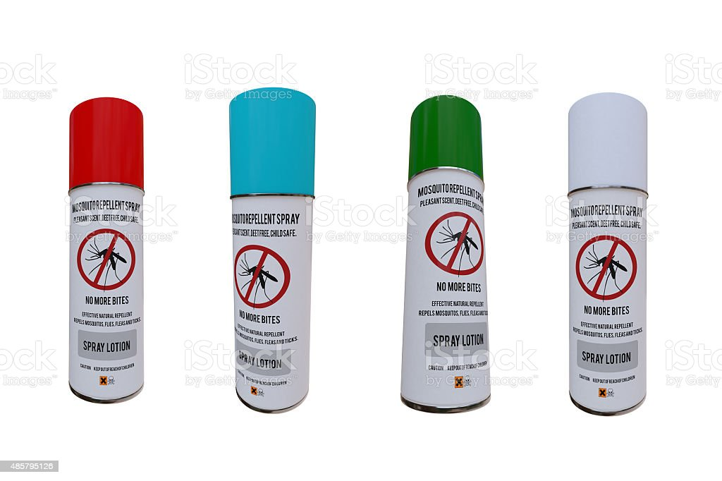 mosquito spray cans stock photo