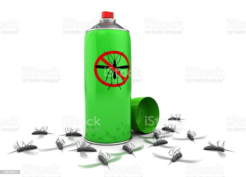 mosquito spray stock photo