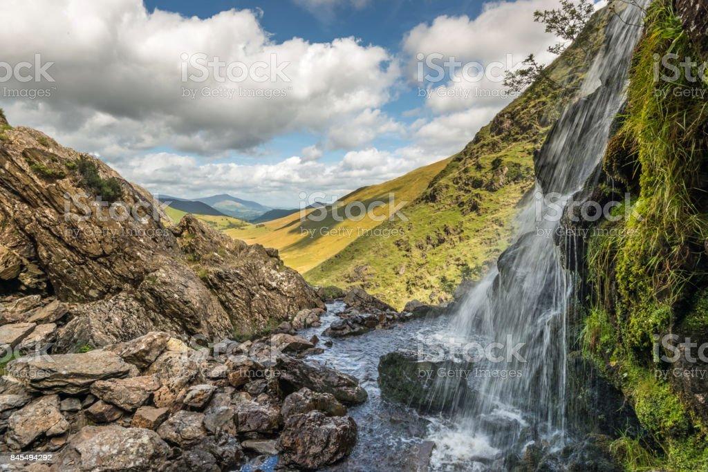 Moss Falls, near Buttermere, English Lake District, Cumbria stock photo