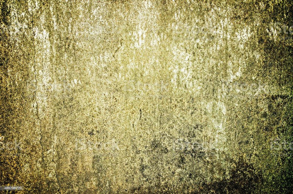 Moss Wyspa na starej Betonowy mur zbiór zdjęć royalty-free