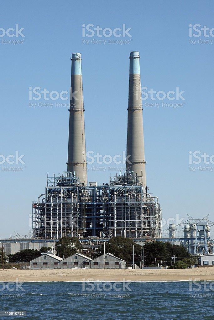 Moss Landing power plant, California stock photo