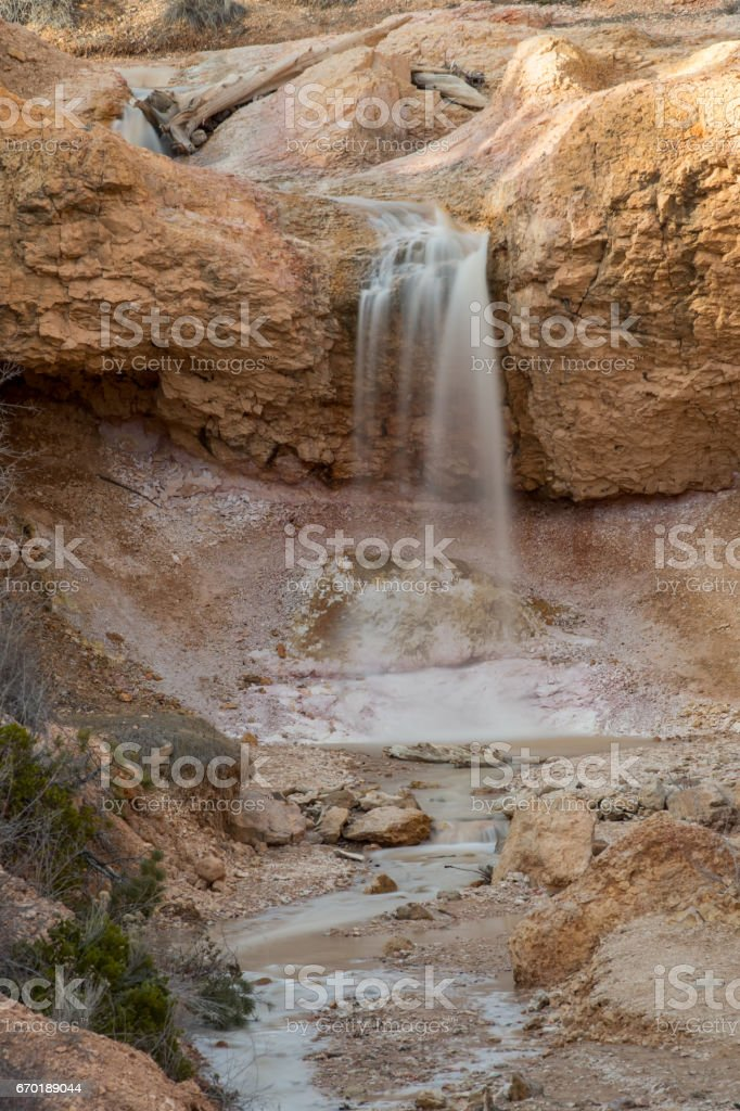Mossy Cave Falls in Close Up stock photo