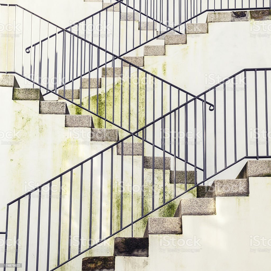 Mossy Staircase royalty-free stock photo
